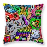 Color Bash Acid Tweeter Throw Pillow