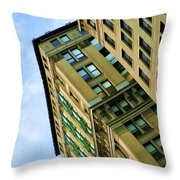 Color Buildings Architecture New York  Throw Pillow