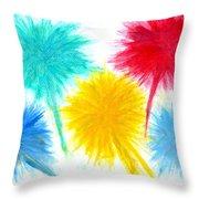 Color Burst 1 Throw Pillow