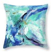 Color Chaos Aqua Throw Pillow