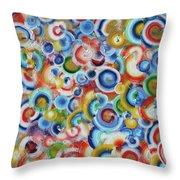 Color Circles 201810 Throw Pillow
