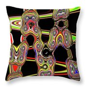 Color Circles Abstract Throw Pillow
