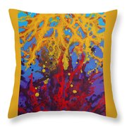 Color Clash Throw Pillow
