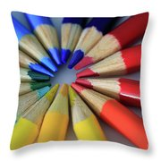 Color Coded Throw Pillow by Tracy Hall