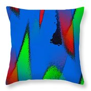 Color Collaboration Throw Pillow