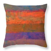Color Collage Two Throw Pillow