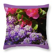 Color Combination Flowers Cc63 Throw Pillow