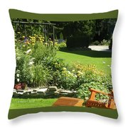 Color Combination Flowers Cc65 Throw Pillow