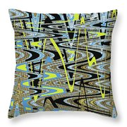 Color Combo Abstraction Throw Pillow