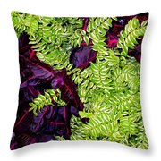 Color Combo Throw Pillow