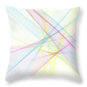Color Computer Graphic Line Pattern Throw Pillow
