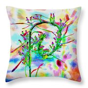Color Curl Throw Pillow