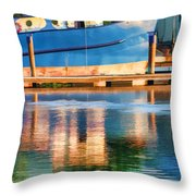 Color Dancing On Water Throw Pillow