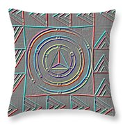 Color Design Throw Pillow