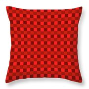Color Dots On Red Drawing Abstract #7 Throw Pillow