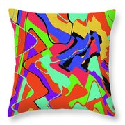 Color Drawing Abstract #3 Throw Pillow