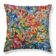 Color Expressions. Throw Pillow