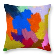 Color Festival Throw Pillow