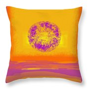 Color Field Sunset 1 Throw Pillow