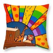 Color Flood Throw Pillow
