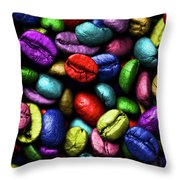 Color Full Coffe Beans Throw Pillow