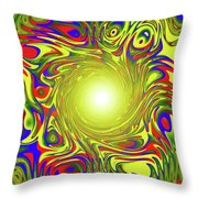 Color Funnel Throw Pillow