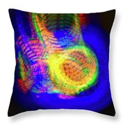 Color Funnels Photo Painting Throw Pillow