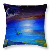 Color Futuristic Throw Pillow