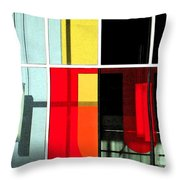 Color Grid 1 Throw Pillow