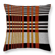 Color Grid Throw Pillow