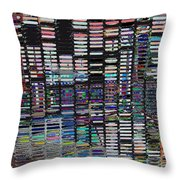 Color Grid - Gold Line Throw Pillow