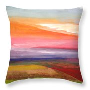 Color Harmony Throw Pillow