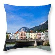 Color In Innsbruck Throw Pillow
