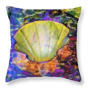 Color In Shell Throw Pillow