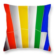Color In The Air Throw Pillow