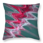 Color In Waves Throw Pillow