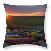 Color In Wells Throw Pillow