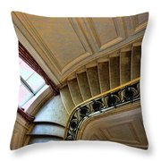 Color Interior Stairs  Throw Pillow
