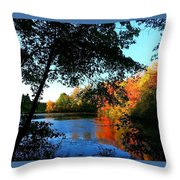 Color Leak Throw Pillow