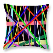 Color Lines Variety Background Throw Pillow