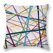 Color Lines Variety Throw Pillow