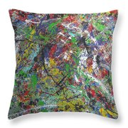 Color Map From The Sky And Ice Figure  Throw Pillow