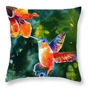 Color Me Humming Throw Pillow