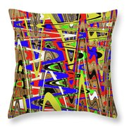 Color Mix Fun Abstract Throw Pillow