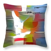 Color Model One Throw Pillow