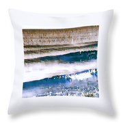 Color Movement-blue And Beige Throw Pillow