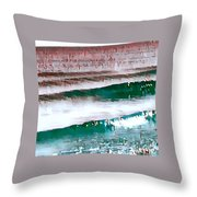 Color Movement-turquoise And Red Throw Pillow