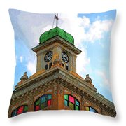 Color Of City Hall Throw Pillow