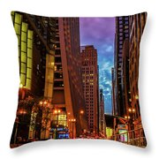 Color Of Night Throw Pillow