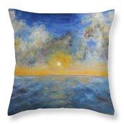 Color Of Ocean Throw Pillow